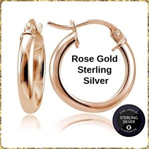 Jewelry - NWT... 18kt Rose Gold Hoops